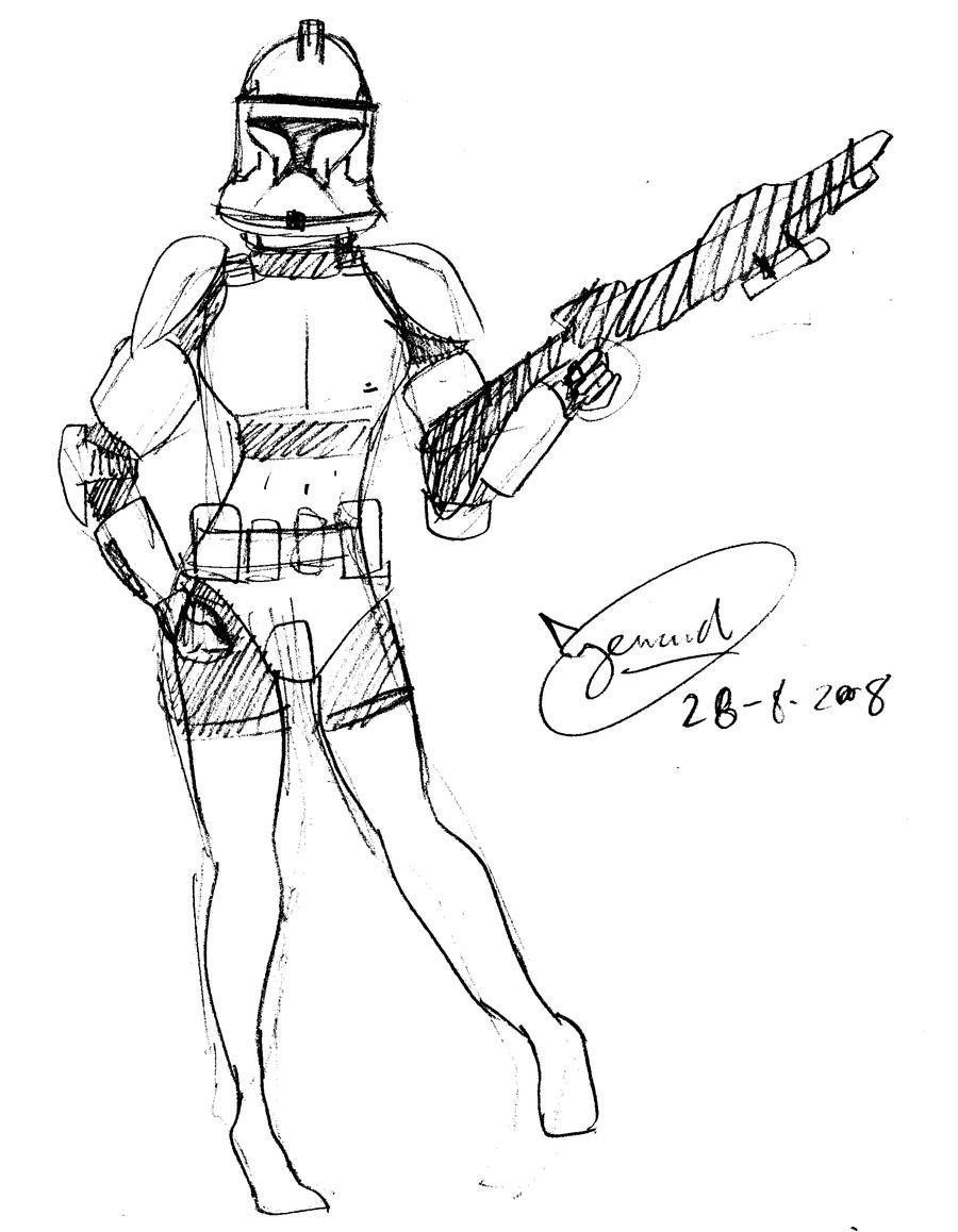female stormtrooper by kerarta on deviantart