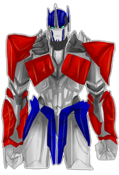 TFP: Optimus Prime in AoE Armor by xtechnology-1