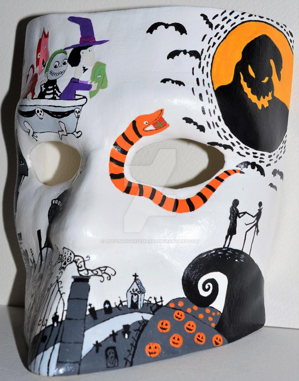 Nightmare Before Christmas Bauta Mask side 2 by LucyinDisguiseMasks ...