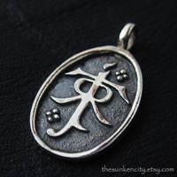 Silver Tolkien's Monogram pendant by Sulislaw