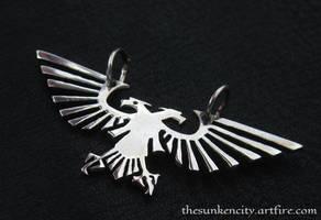 Silver Imperial Eagle pendant