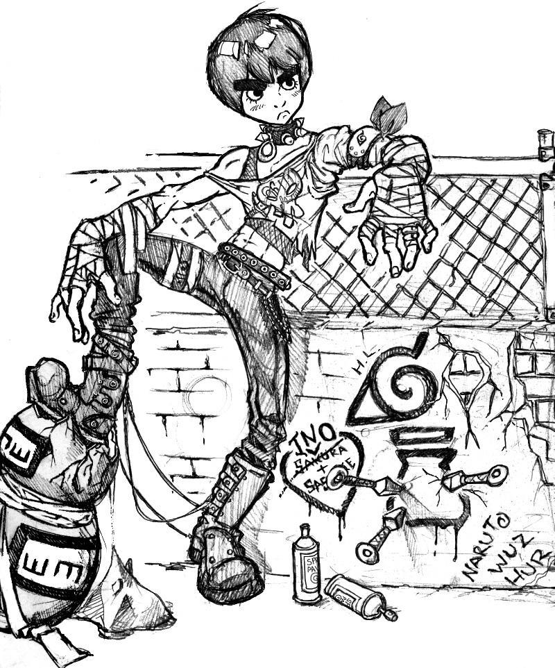 Punk Rock Lee by kupidkilla on DeviantArt
