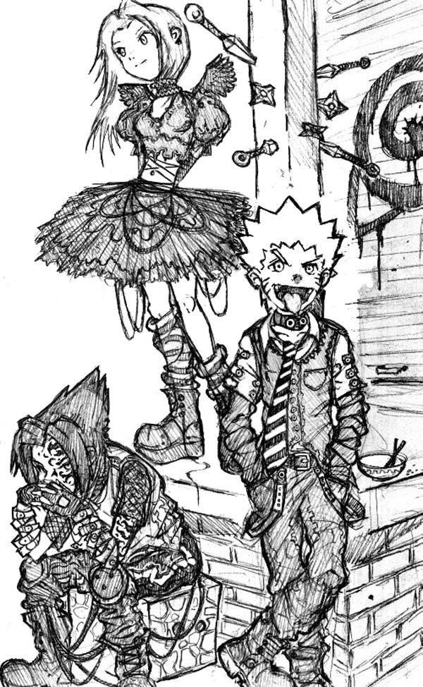 DarkSide: Naurto Sasuke Sakura by kupidkilla