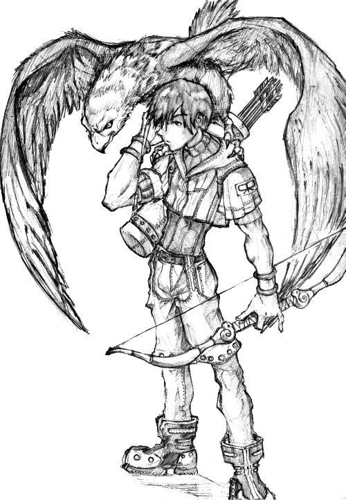 Hunter azuma ro by kupidkilla on deviantart for Ro draw