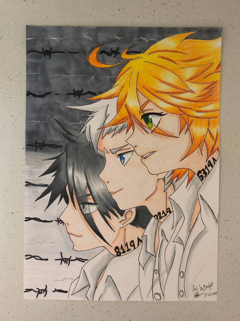 The Promised Neverland Emma Norman And Ray By Artbybridget On