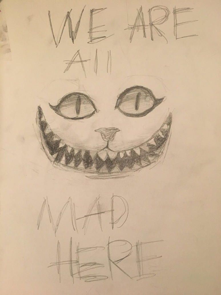 We are all mad here  by glittergirlart
