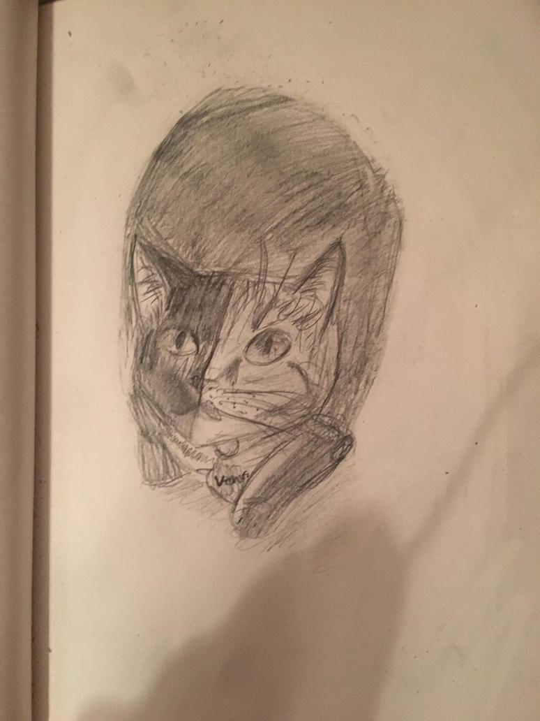 Venus the cat by glittergirlart