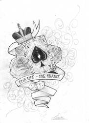 Card tattoo design by skil-by-dopeone