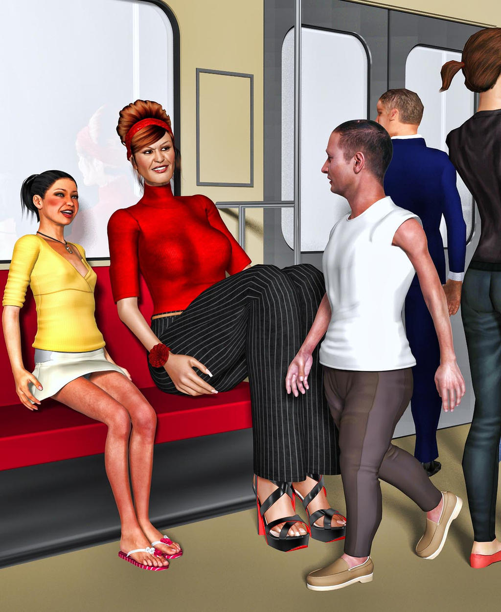 Super Tall Woman Illustrated Stories 75