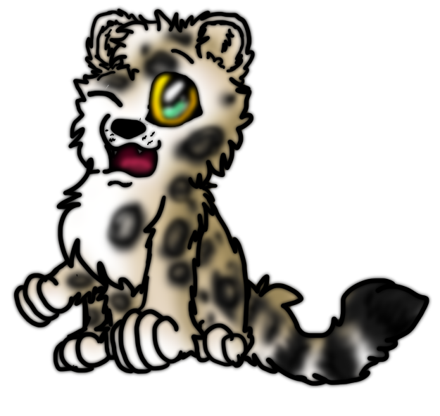 chibi snow leopard by tanatiels on deviantart rh tanatiels deviantart com snow leopard face clipart snow leopard clipart black and white