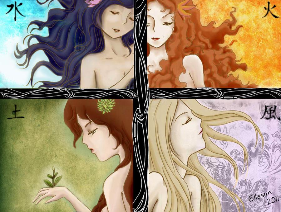 The four elements by Ellesun