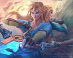 Link and Zelda princess