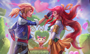Battle Academy Ezreal and Lux