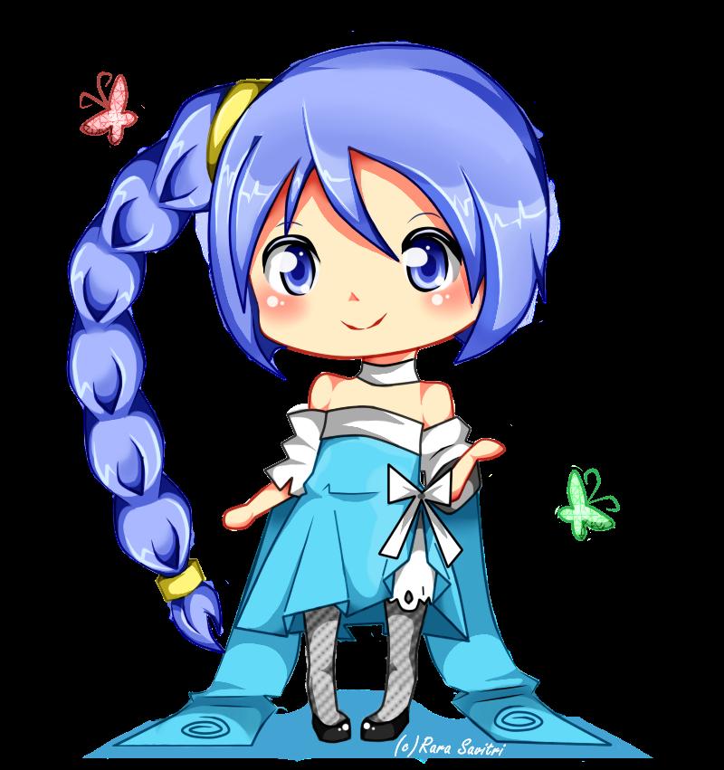 Chibi Gambar Anime Lucu Dan Imut: Gambar Sample Chibi Point Commission Aqua Rarasavitri