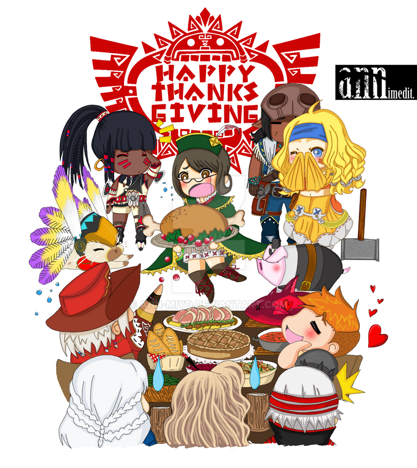 Monster Hunter Thanksgiving by ann-miyo