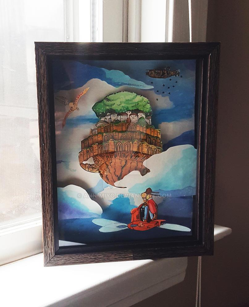 Laputa: Castle in the Sky Pop Up Art by ann-miyo