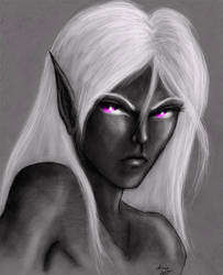 angry Drizzt by Zardra