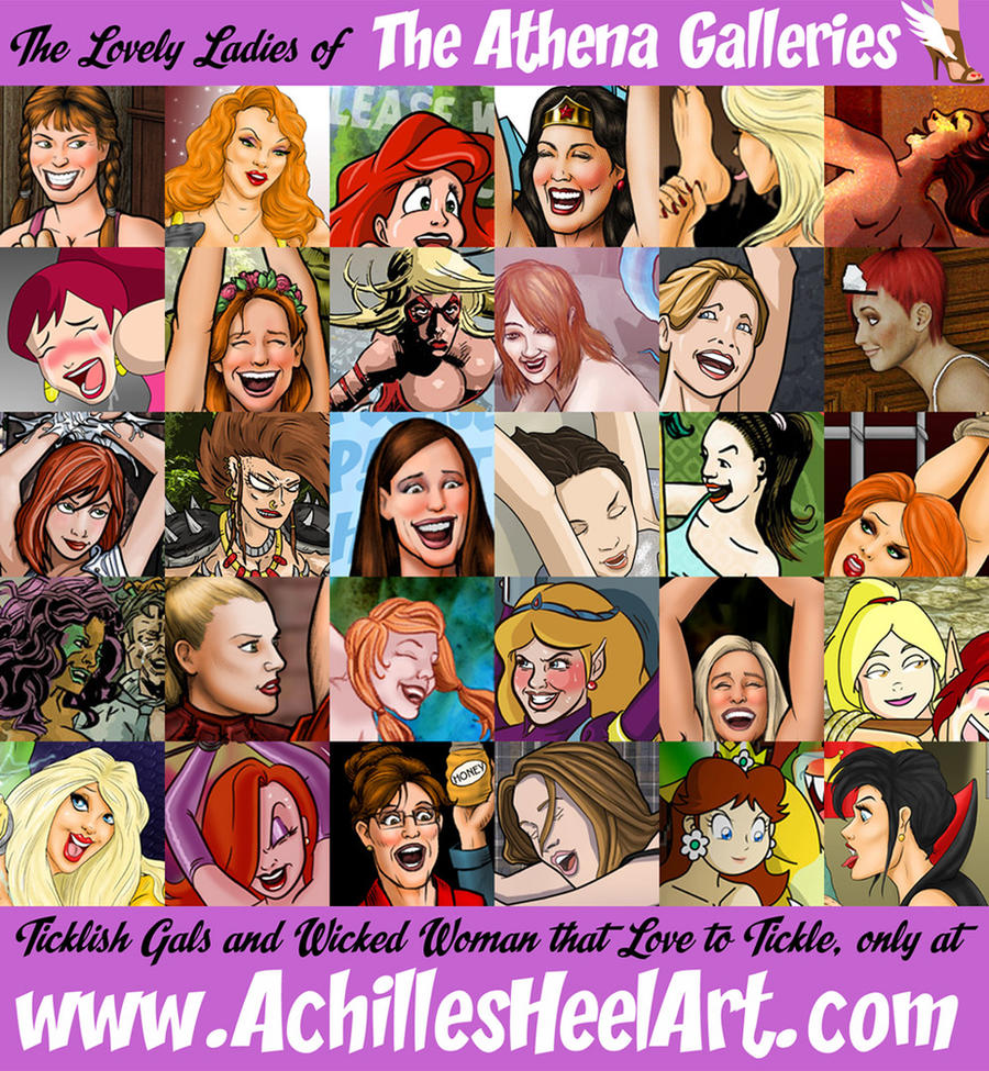 The Lovely Ladies of the Athena Galleries by achillesheelart