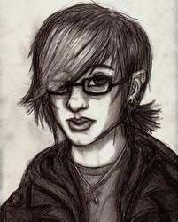 Self portrait. by Nowherexbutxhere
