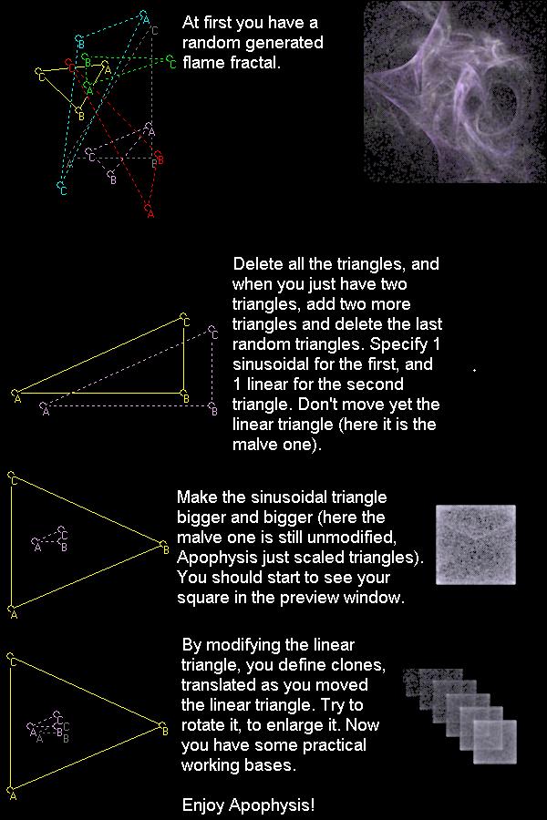Apophysis squares by fractals