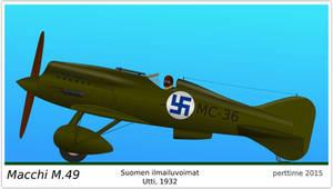 Macchi M.49 fighter - Finnish Air Force
