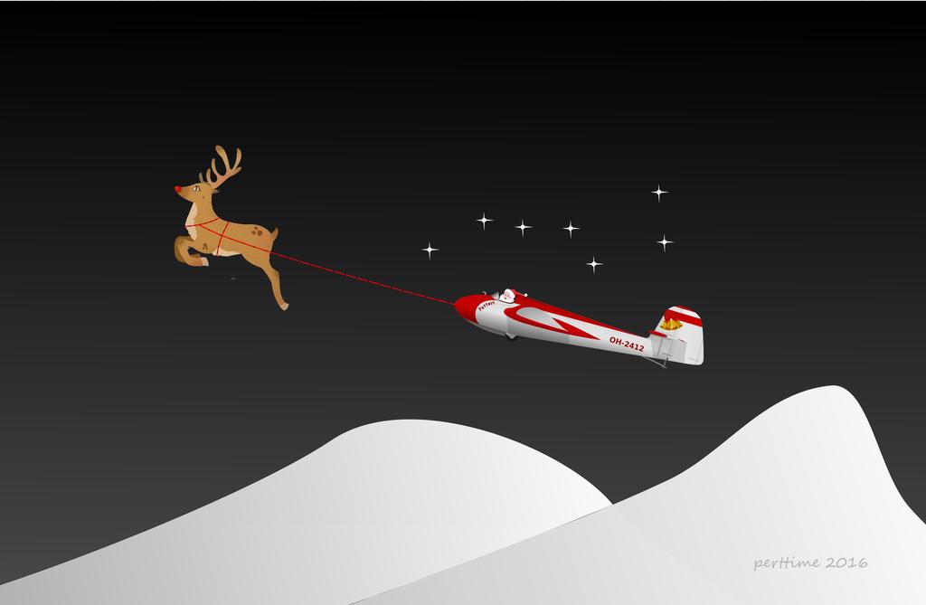 Santa's Habicht on the way by perttime