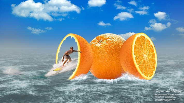Impossible Image, Orange Sea Surf. 19021AII