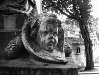 Montparnasse Cemetery Statue by guitarsimo80