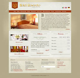 Hotel Rovereto website by guitarsimo80