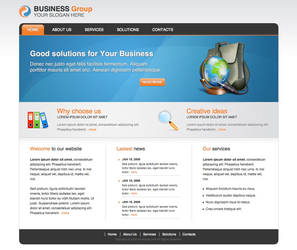 Business Group HTML Template by guitarsimo80