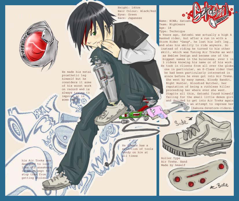 Parts War- Satoshi Niwa by DragonCraZ