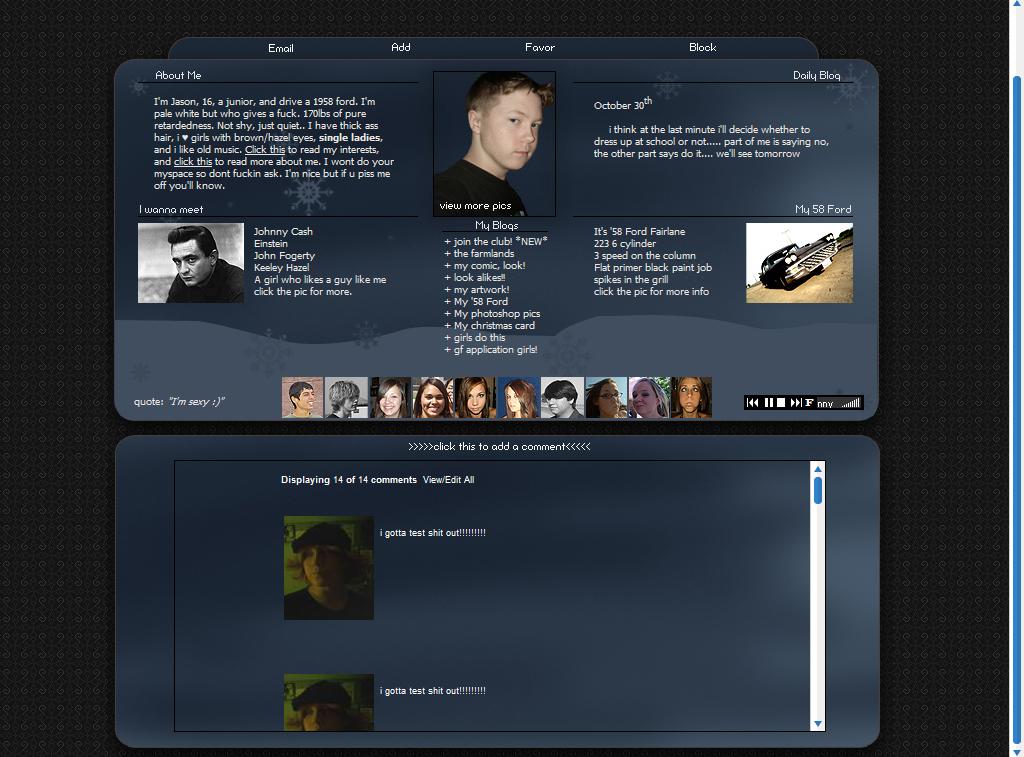 myspace layout winter by luvzccr