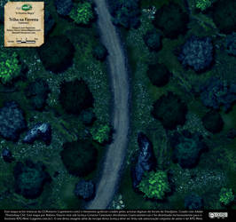 Trilha na Floresta (Forest Trail) - Map 1, night by Dhuend13