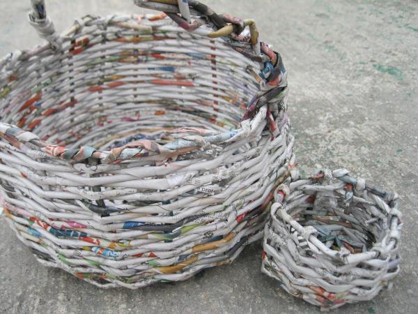 Basket Making Using Newspaper : Basket made of newspaper by tannywantan on deviantart