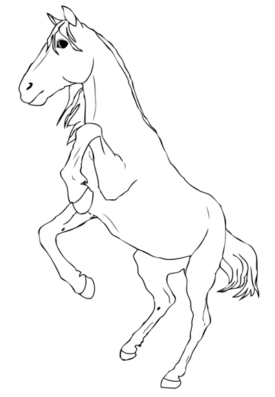 Outline 5 Rearing Horse by KittyKelly00 on DeviantArt