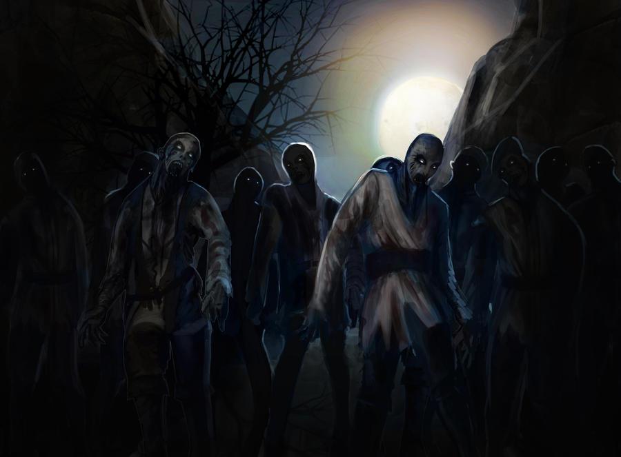 Zombie Horde Art zombie horde by Sheyrne