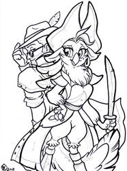 Comm: Zadok and Captain Celaeno by WhiteDiamonds