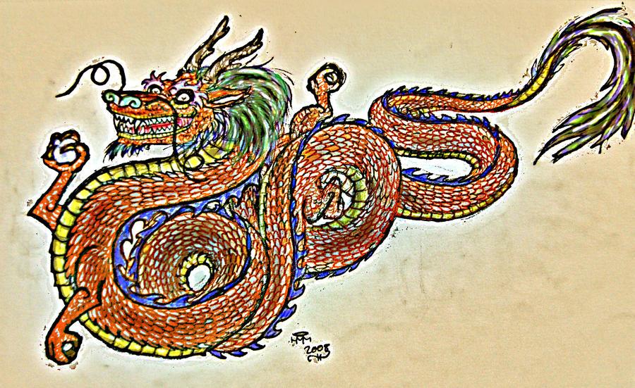 Asian Dragon by H-M-M