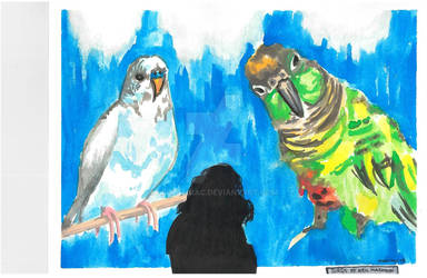 Bird Painting in Museum