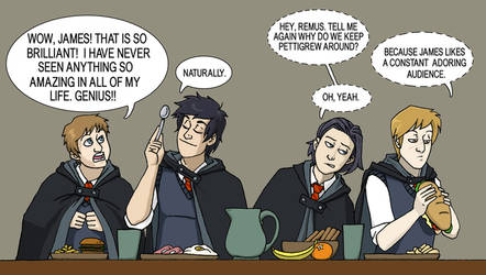Lunchtime at Hogwarts 1975