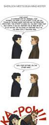 Sherlock meets Dean Winchester by LamechO