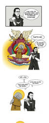 Loki and his Glorious Porpoise by LamechO
