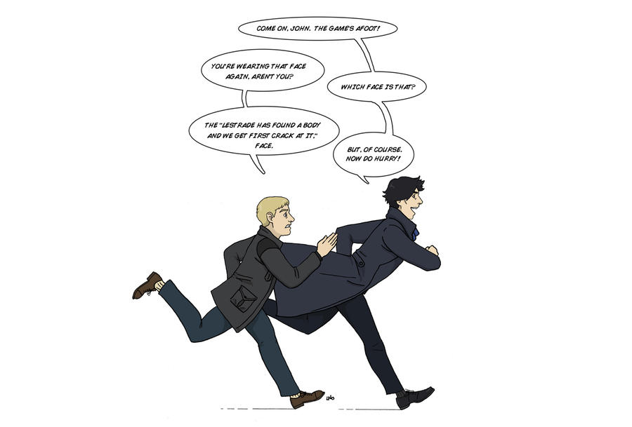 Sherlock is making that face again by LamechO