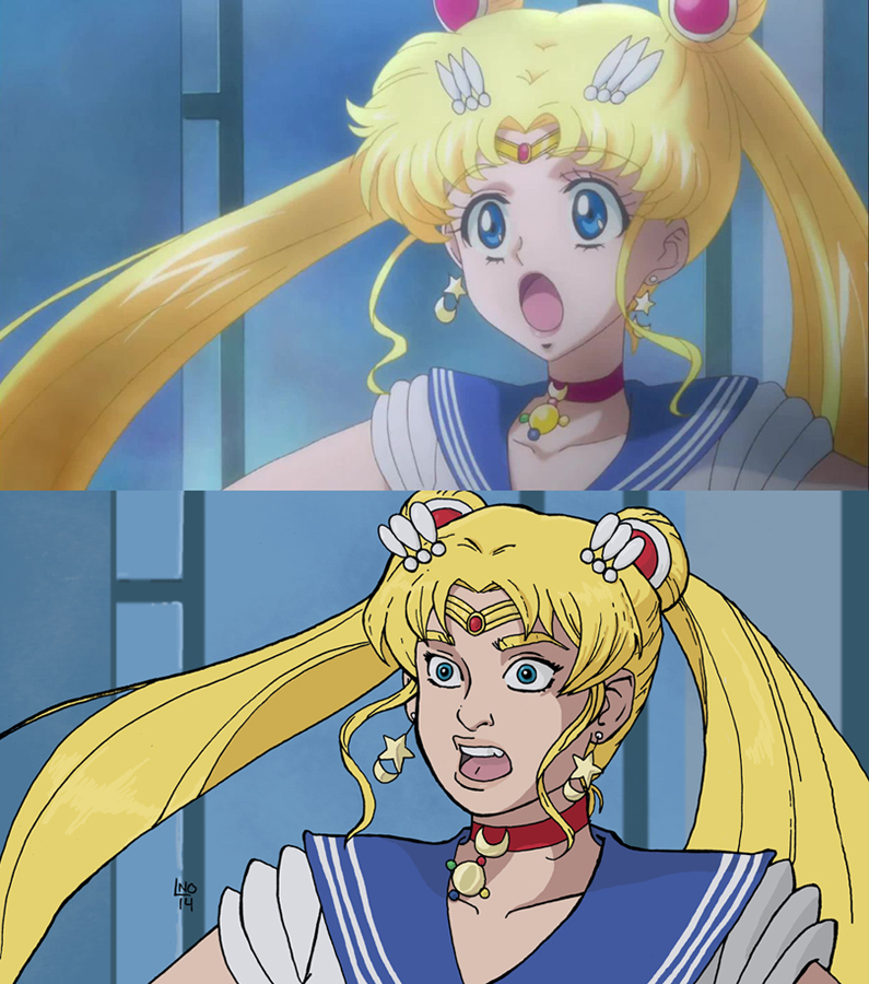 Anime Redraw Sailor Moon Edition By LamechO On DeviantArt