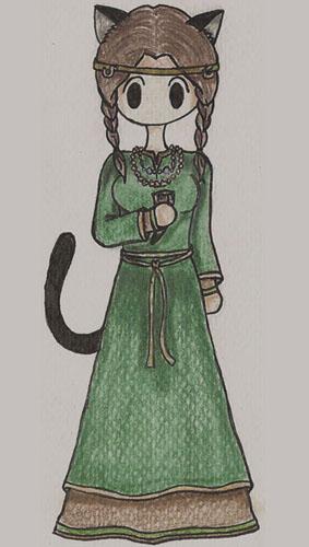 10th Century Slavic Cat by Kerowyn  Bobbi Brown