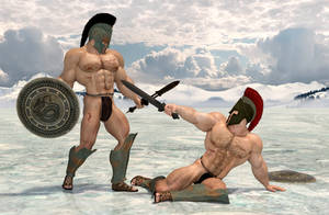 Spartanfight on ice by Catweazle01