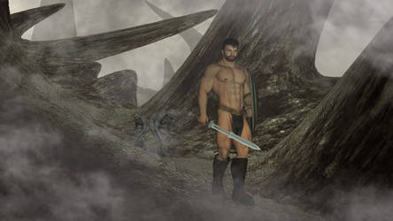 Lonely Barbarian In Danger by Catweazle01