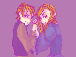 Thom+Alanna 2: Twin Tricksters of Trebond re-paint by helenchan150