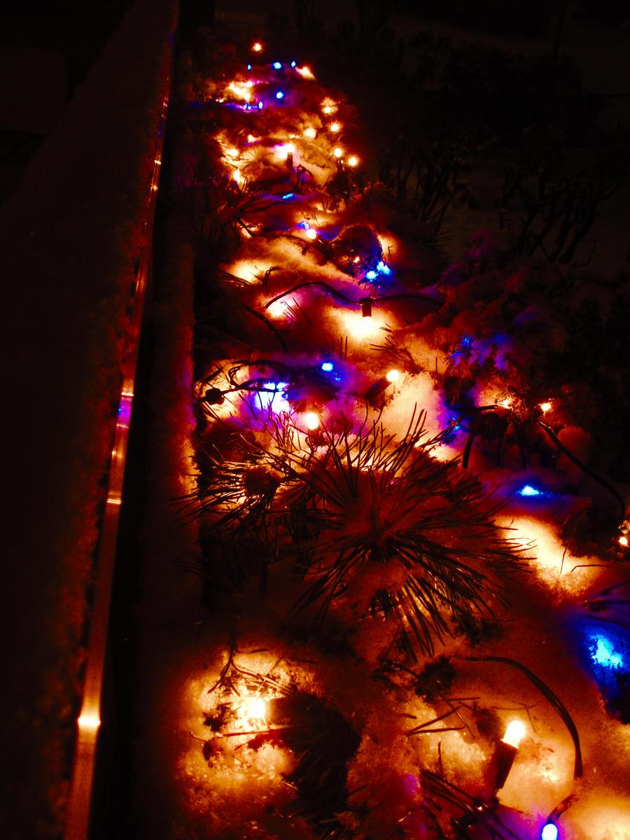 Superb christmas lights tumblr snow