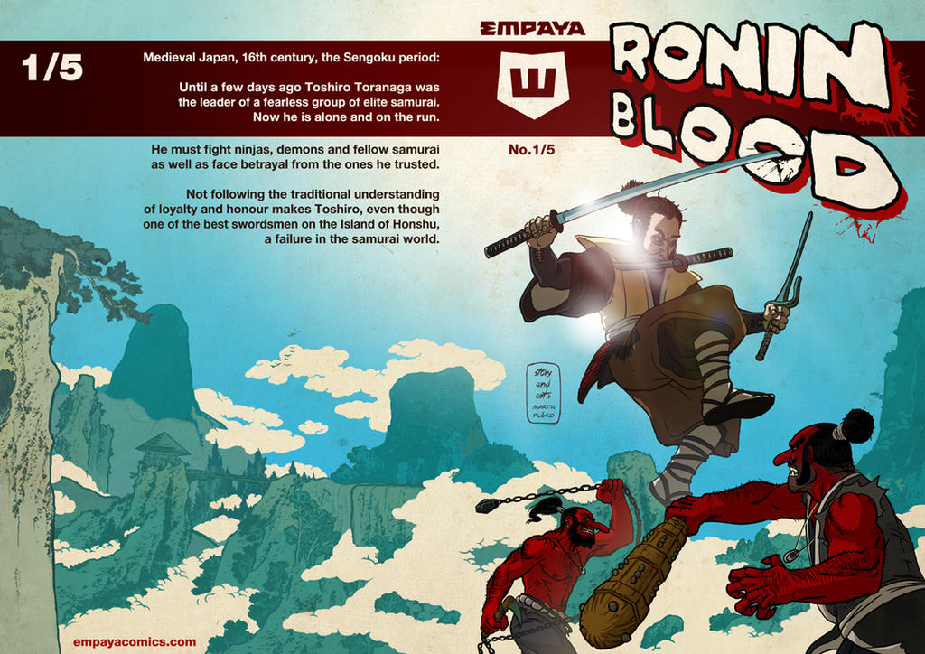 Ronin Blood, Cover to issue 01 by burningflag